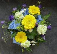 Lemon and Blue Posy